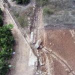 Vista aérea del acueducto